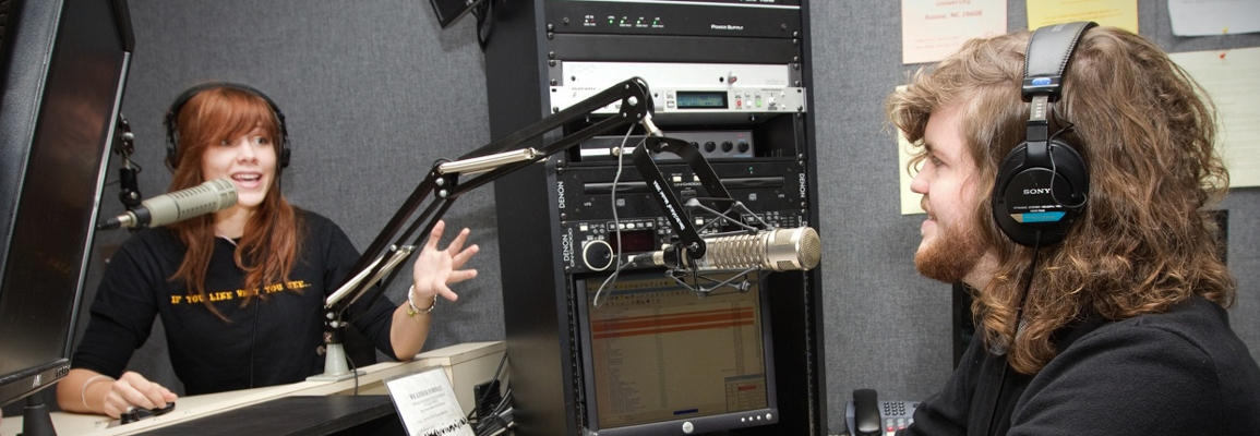 students in radio studio
