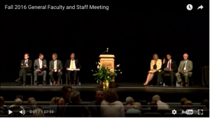 Fall 2016 General Faculty and Staff Meeting