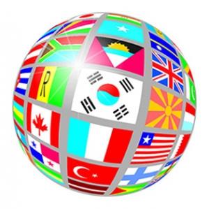 sphere of international flags